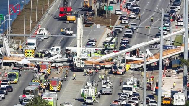 Florida International University officials were aware of the crack on the pedestrian bridge that collapsed and left at least six dead. Veuer's Maria Mercedes Galuppo has more.
