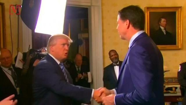 Donald Trump took to Twitter to accuse former FBI Director James Comey of lying under oath during questioning about anonymous sources. Veuer's Maria Mercedes Galuppo has more.