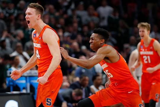 No. 11 seed Syracuse shocks No. 3 Michigan State to advance to Sweet 16