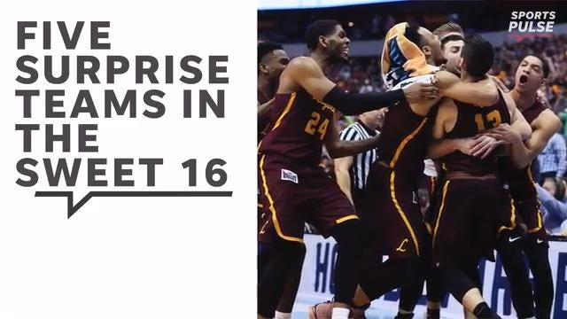 SportsPulse: USA TODAY Sports' Scott Gleeson looks at five teams that have made improbable runs to the second weekend of March Madness.