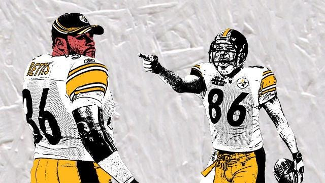 """In 2005, Pittsburgh Steelers teammates Jerome Bettis and Hines Ward started a bet over who could score more touchdowns. The contest came down to Super Bowl XL, during which """"The Bus"""" found himself in a Catch-22."""