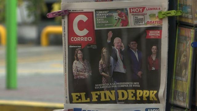 Peruvians react a day after Pedro Pablo Kuczynski's resignation.