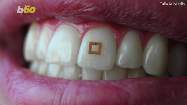 Researchers at Tufts University has developed a nutrition tracker that goes in your mouth. Tony Spitz has the details.