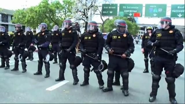 The fatal shooting of an unarmed black man by Sacramento police has roiled California's capital city, leading to a protest that shut down a freeway and delayed an NBA game at the downtown arena. (March 23)