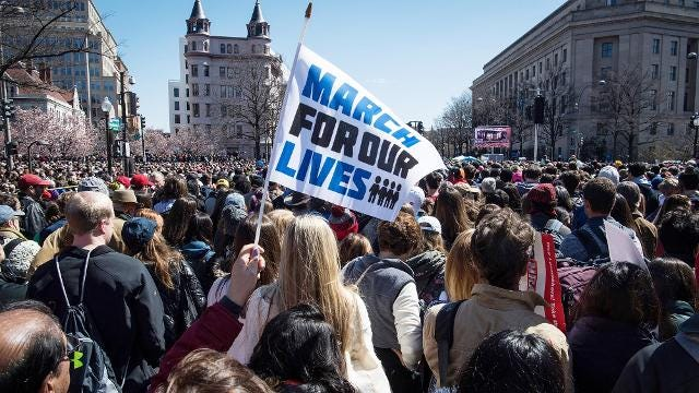 Protestors explain why they've had #enough and their thoughts on gun control during the March For Our Lives in Washington, D.C. on Saturday, March 24, 2018.