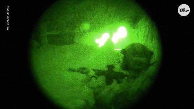 Night vision cameras capture U.S. raid against Islamic State