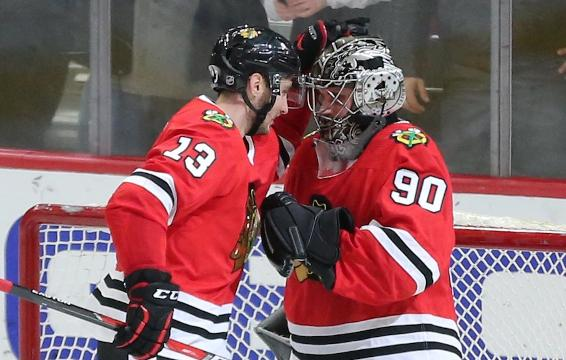 It was a thrill of a lifetime for 36-year-old accountant Scott Foster when the Chicago Blackhawks called on him to play goalie.