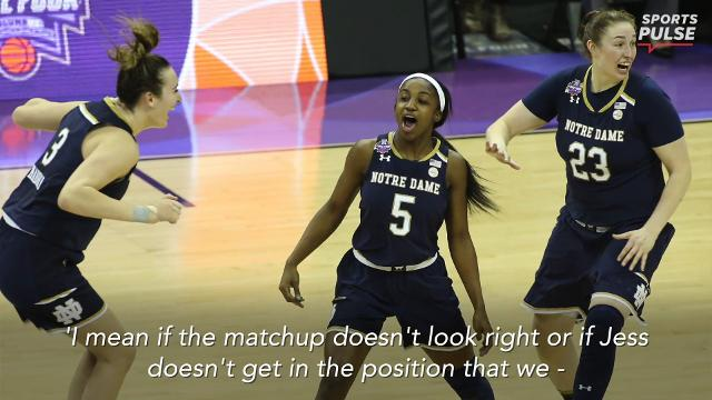 SportsPulse: Notre Dame players and coach Muffet McGraw were in a state of euphoria and disbelief when speaking to the media after their remarkable national championship win over Mississippi State.