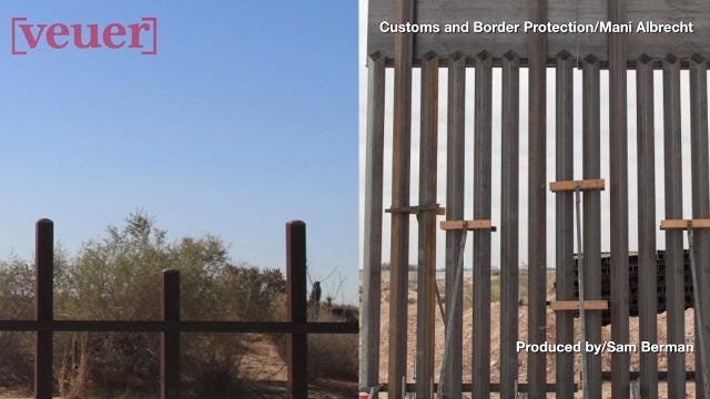 Trump's border wall looks more like a fence