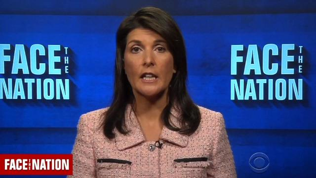 U.N. ambassador Nikki Haley says new sanctions will be imposed on Russia.