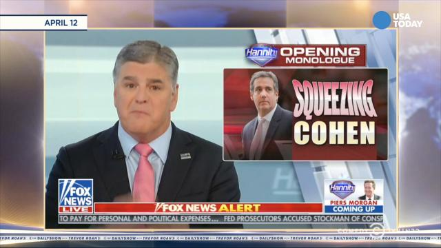 What do you think of the revelation from Trump attorney Michael Cohen about Sean Hannity of Fox News? Vote for your favorite joke at usatoday.com/opinion.