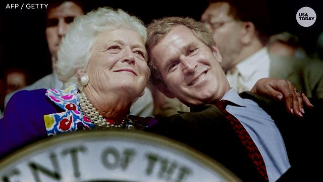 Barbara Bush, former first lady and matriarch of Bush family, dies at 92