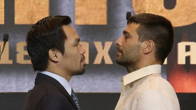 Boxing: Matthysse vows fight 'to the death' against Pacquiao Video provided by AFP