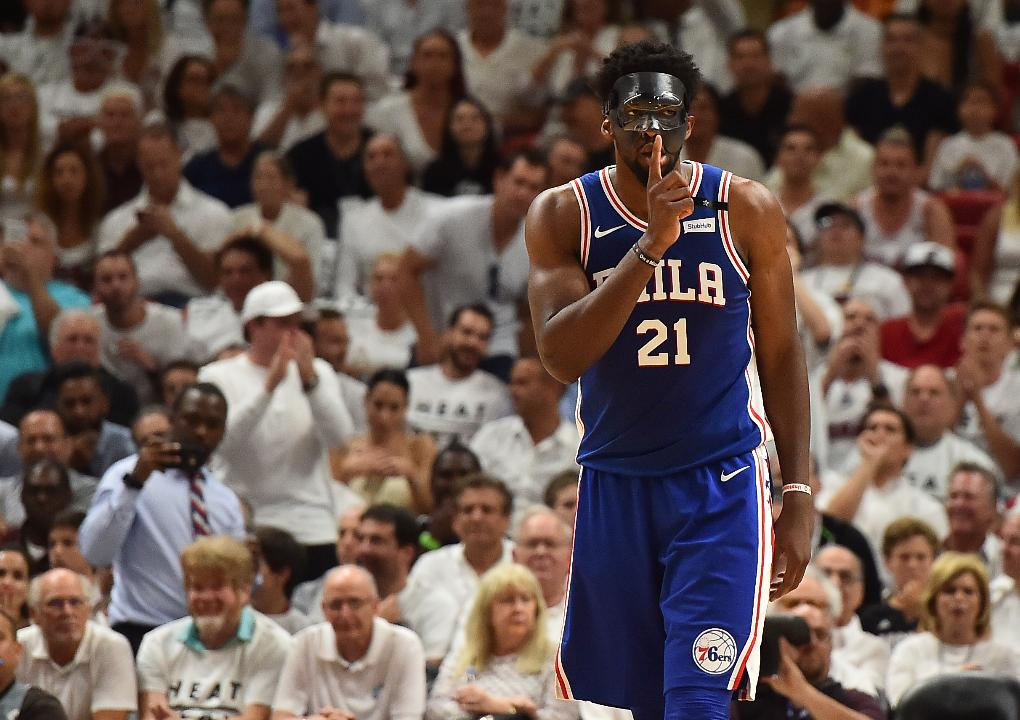 Joel Embiid talks about mask, in-game beef with Justise Winslow