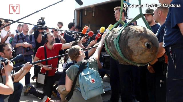 The center of one the world's major cities…evacuated because of 1,102 pound bomb. Veuer's Nick Cardona has that story.