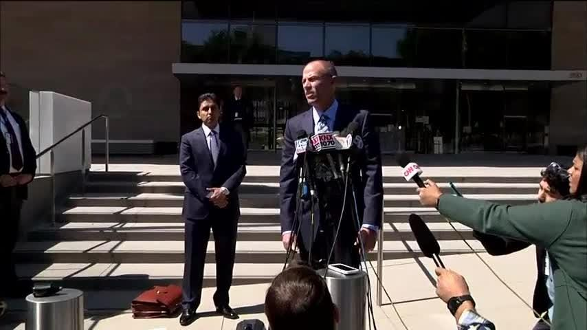 Outside a California court on Friday, Stormy Daniels' attorney Michael Avenatti said he was confident that the civil case would move forward without delay. He also stated his belief that Michael Cohen will plead the Fifth Amendment. (April 20)
