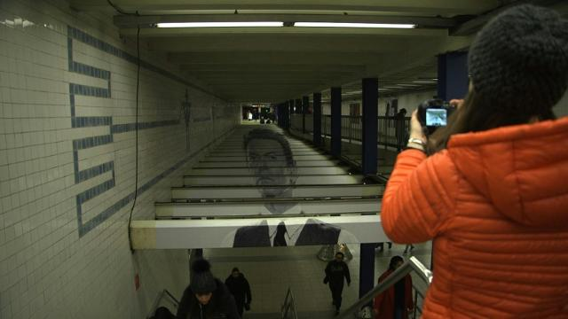 New York subway station brings back David Bowie.