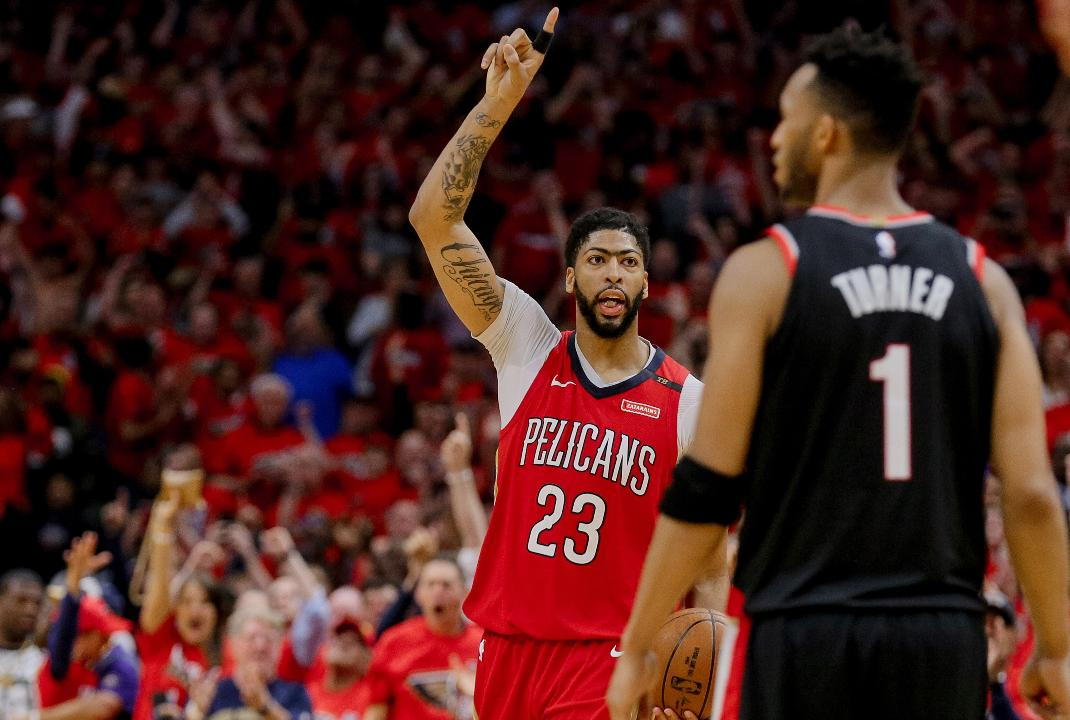 9d1ec0aae474 NBA Playoffs  Pelicans first team to advance with sweep of Trail Blazers