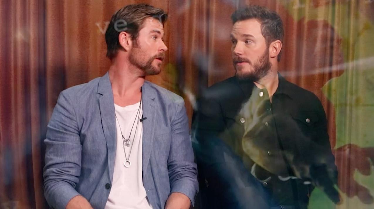 Chris Pratt and Chris Hemsworth talk 'Avengers: Infinity War'