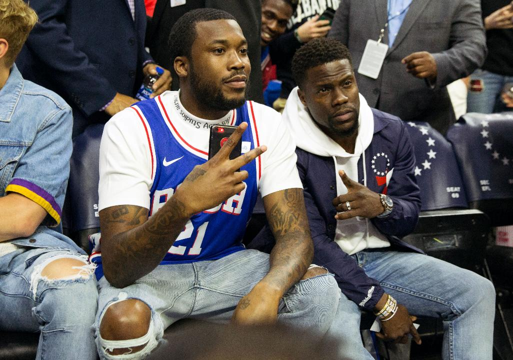 Rapper Meek Mill wasted no time getting back to his normal life following his release from prison as he headed straight to the Wells Fargo Center for Game 5 between the Heat and Sixers.