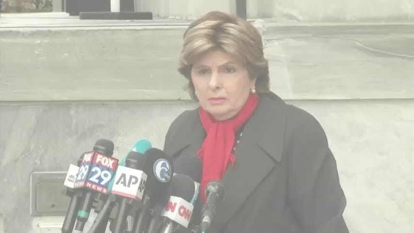 """Attorney Gloria Allred says the verdict in Bill Cosby's sexual assault case will be the """"first test since the #MeToo Movement."""" Allred spoke to media prior to heading inside the courthouse in Norristown, Pennsylvania, Wednesday. (April 25)"""