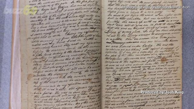 The journal of a young American sailor who was captured during the American revolution has surfaced.