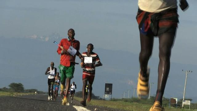 Northern Kenya warriors run marathon to promote peace