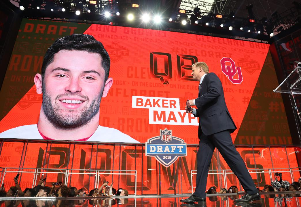 Baker Mayfield drafted No  1 overall by Cleveland Browns