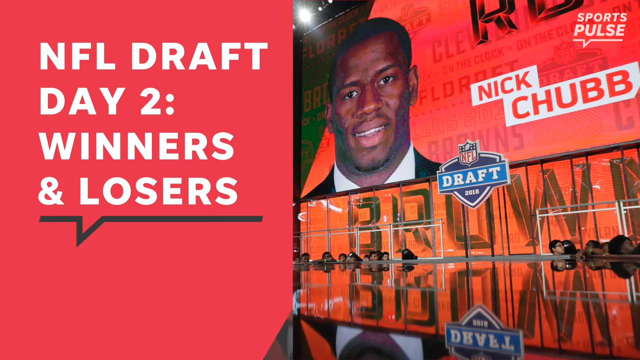 SportsPulse: USA TODAY Sports' Jarrett Bell breaks down who won the second day of the draft and who disappointed.