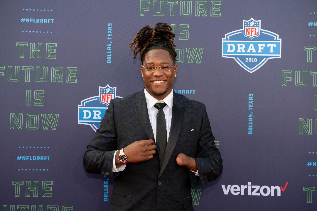 SportsPulse: Shaquem Griffin, a one-handed linebacker who made history by being drafted by the Seahawks, on what motivates him and the crazy story of how he found out he got drafted.