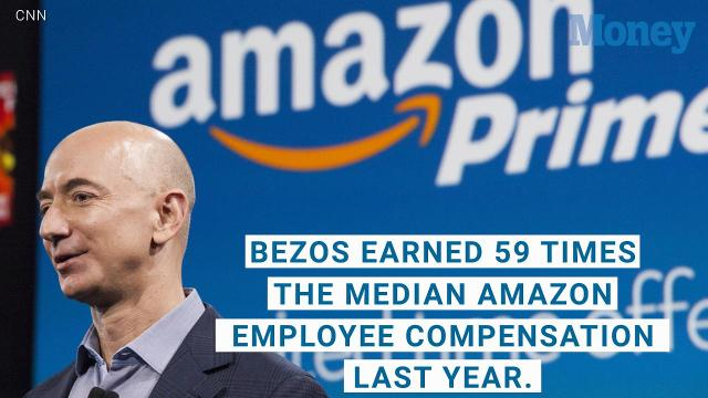 Jeff Bezos makes the median Amazon employee salary every 9 seconds