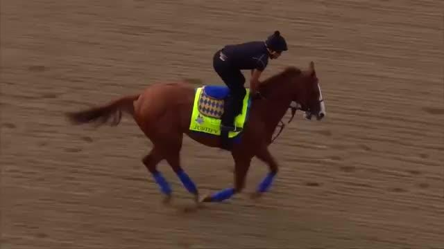 Kentucky Derby favorites Justify, Mendelssohn, and Magnum Moon ready to go on eve of 144th Run for the Roses Video provided by Reuters
