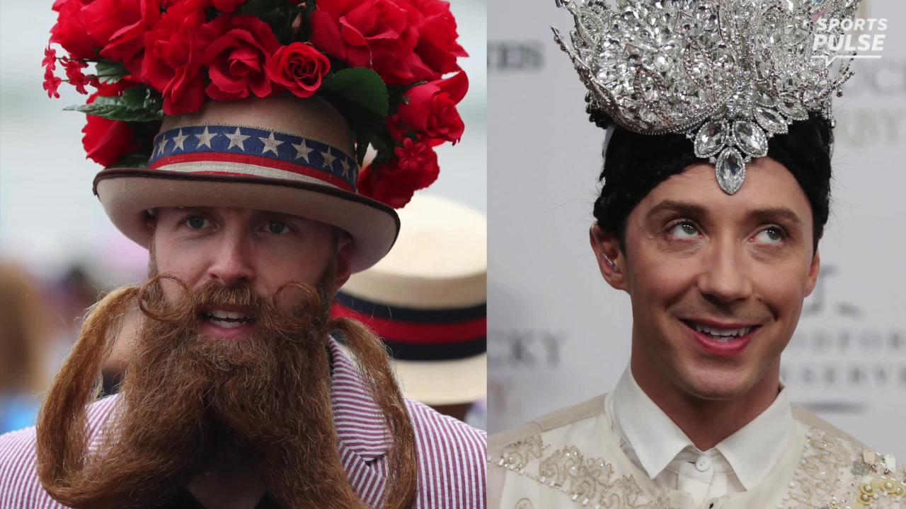 It might have been a rainy day at the 2018 Kentucky Derby, but fans still sported their best hats for the affair.