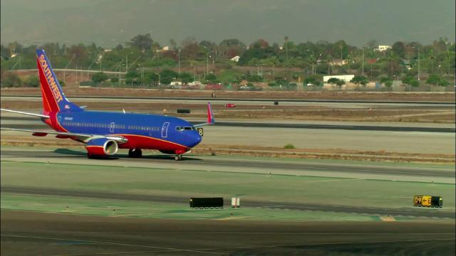 A pickup truck collided with a Southwest aircraft at Baltimore-Washington International Thurgood Marshall Airport on Monday morning.