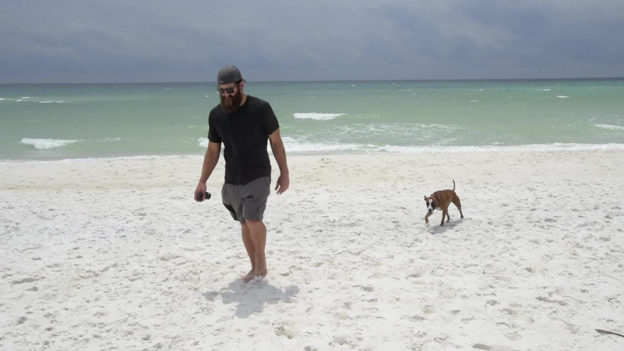 When former Buccaneers and Falcons center Joe Hawley left the game of football, he decided to give away most of his possessions, buy a van and hit the road with his dog.