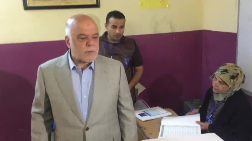 Iraqi PM al-Abadi Votes In National Election