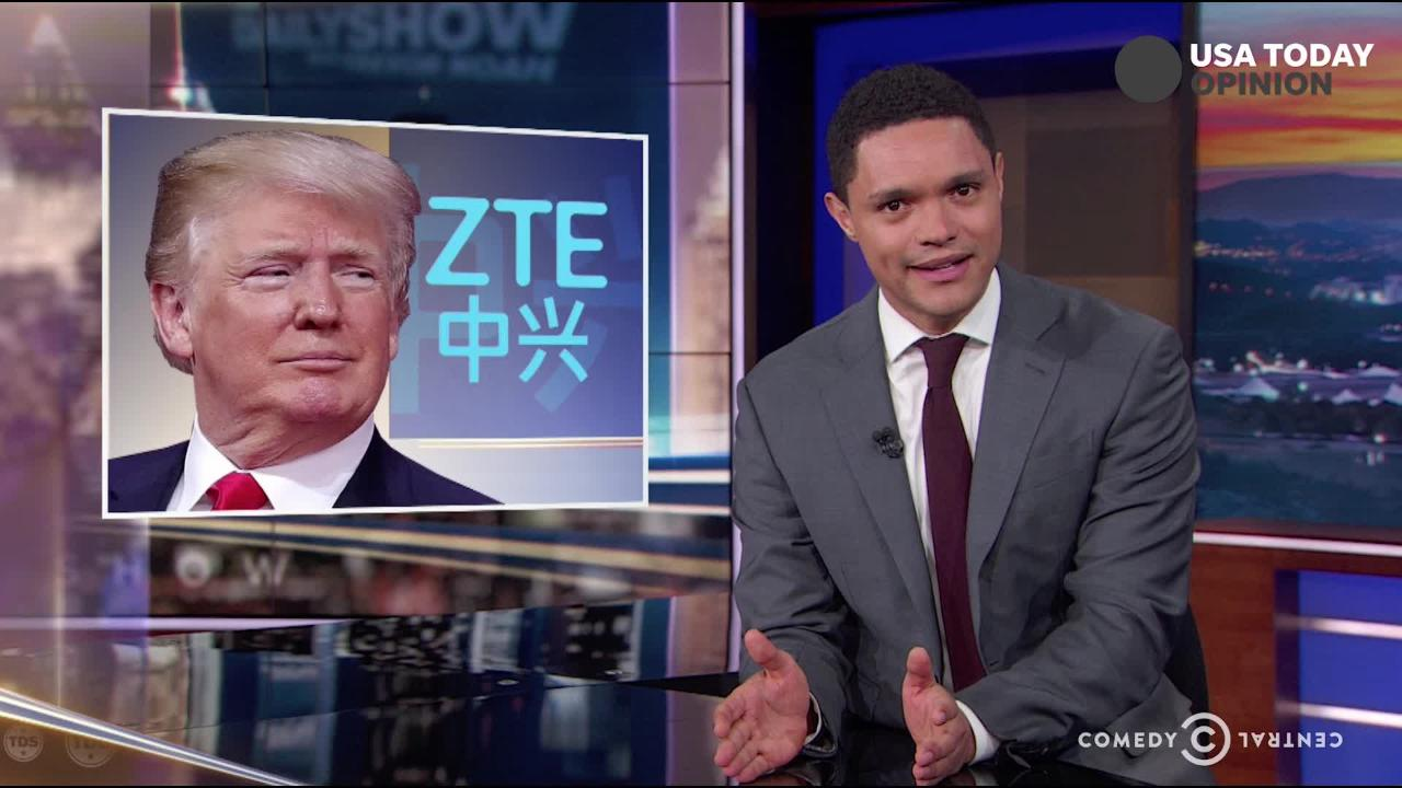 The late-night comics take a look a President Trump's new found love for trade with China. Take a look at our favorite jokes and then vote for yours!