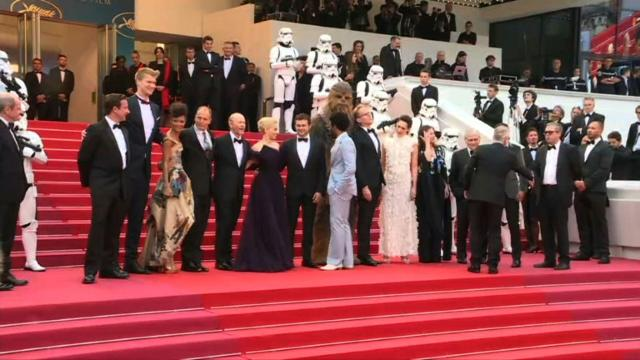 "The cast and filmmakers of the young Han Solo spinoff ""Solo: A Star Wars Story"" walk the red carpet. Video provided by AFP."
