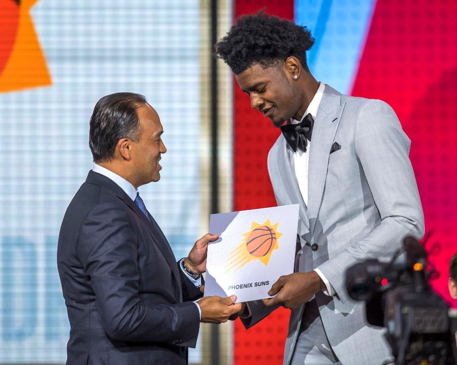 The Phoenix Suns won the lottery and have the first pick in the NBA draft for the first time in franchise history.
