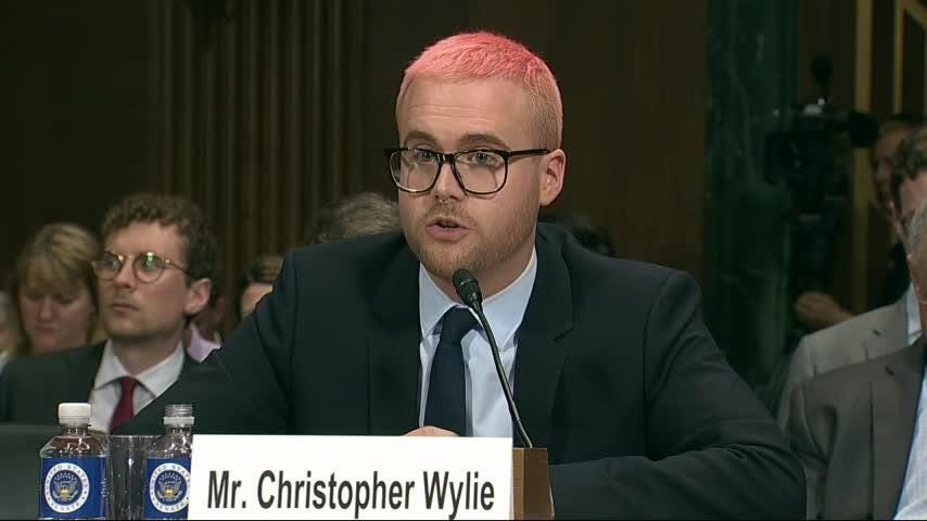 Former Cambridge Analytica researcher Christopher Wylie testified before members of the Senate Judiciary Committee on Wednesday, as they seek answers into how the London-based firm misused Facebook data during the 2016 U.S. presidential election. (May 16)