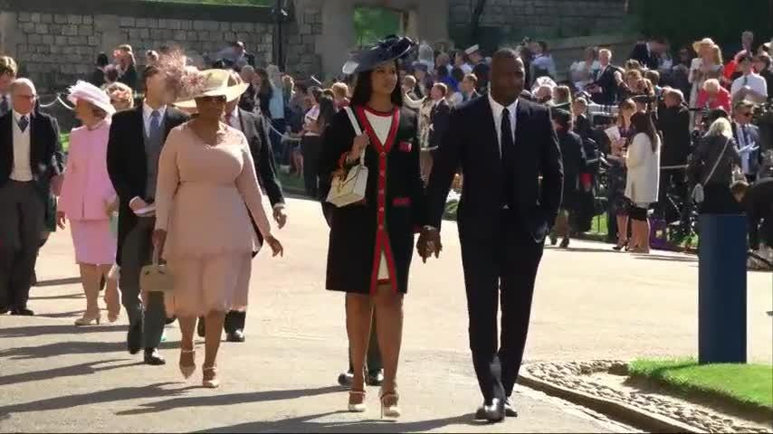 Royal Wedding 2018 Guests.Oprah And Idris Arrive For Wedding