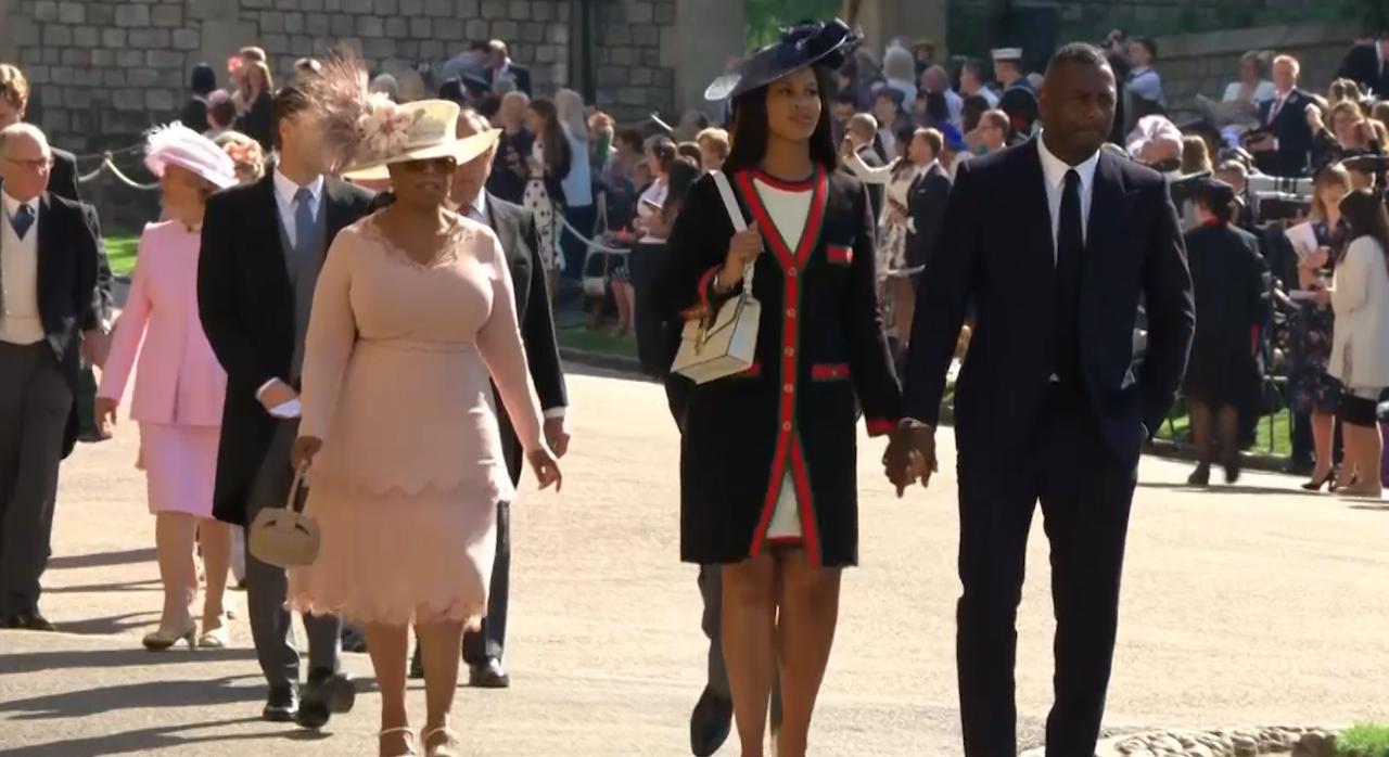Oprah Winfrey Royal Wedding.Idris Elba And Oprah Winfrey Arriving For The Royal Wedding