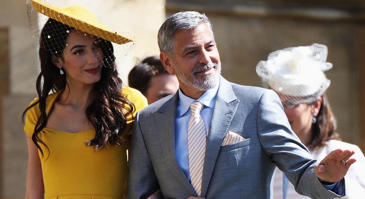George and Amal Clooney, Beckhams arrive at royal wedding