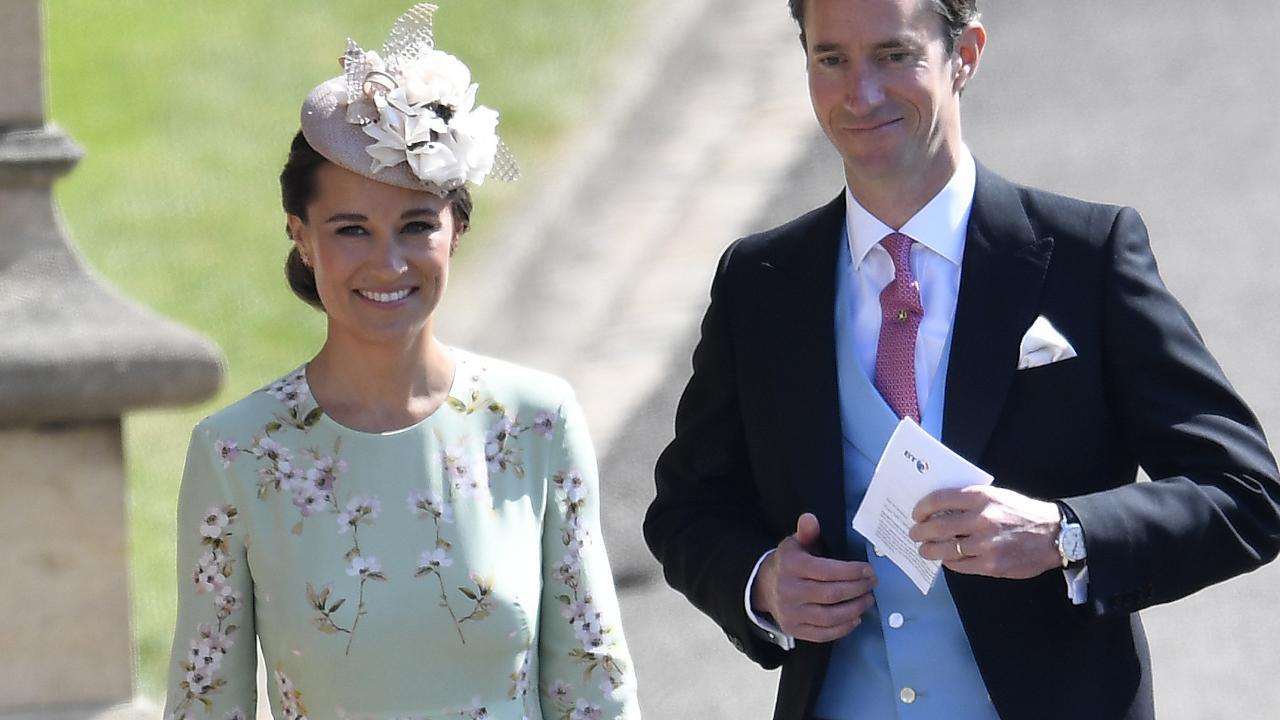 Pippa Middleton was the unexpected show stealer at her sister's royal wedding in 2011. She is seen arriving at St. George's Chapel in Windsor.