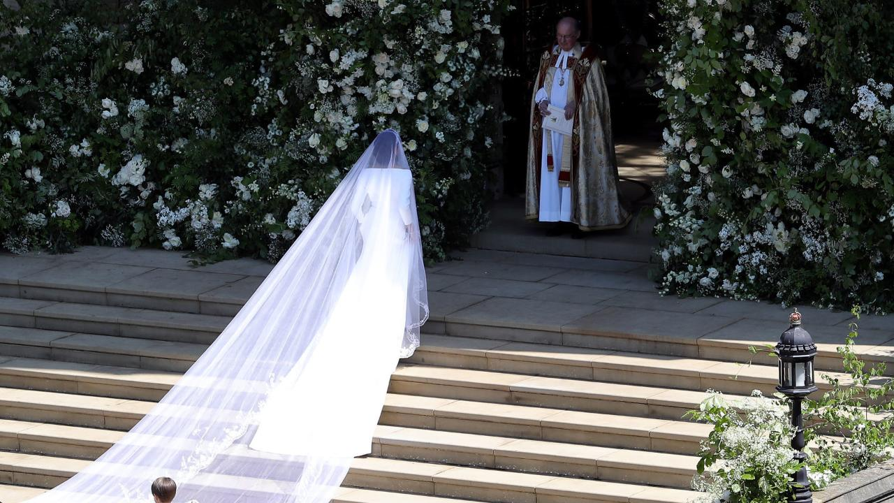 Meghan Markle Walks Down the Aisle in Her Wedding Dress in New Suits Photos