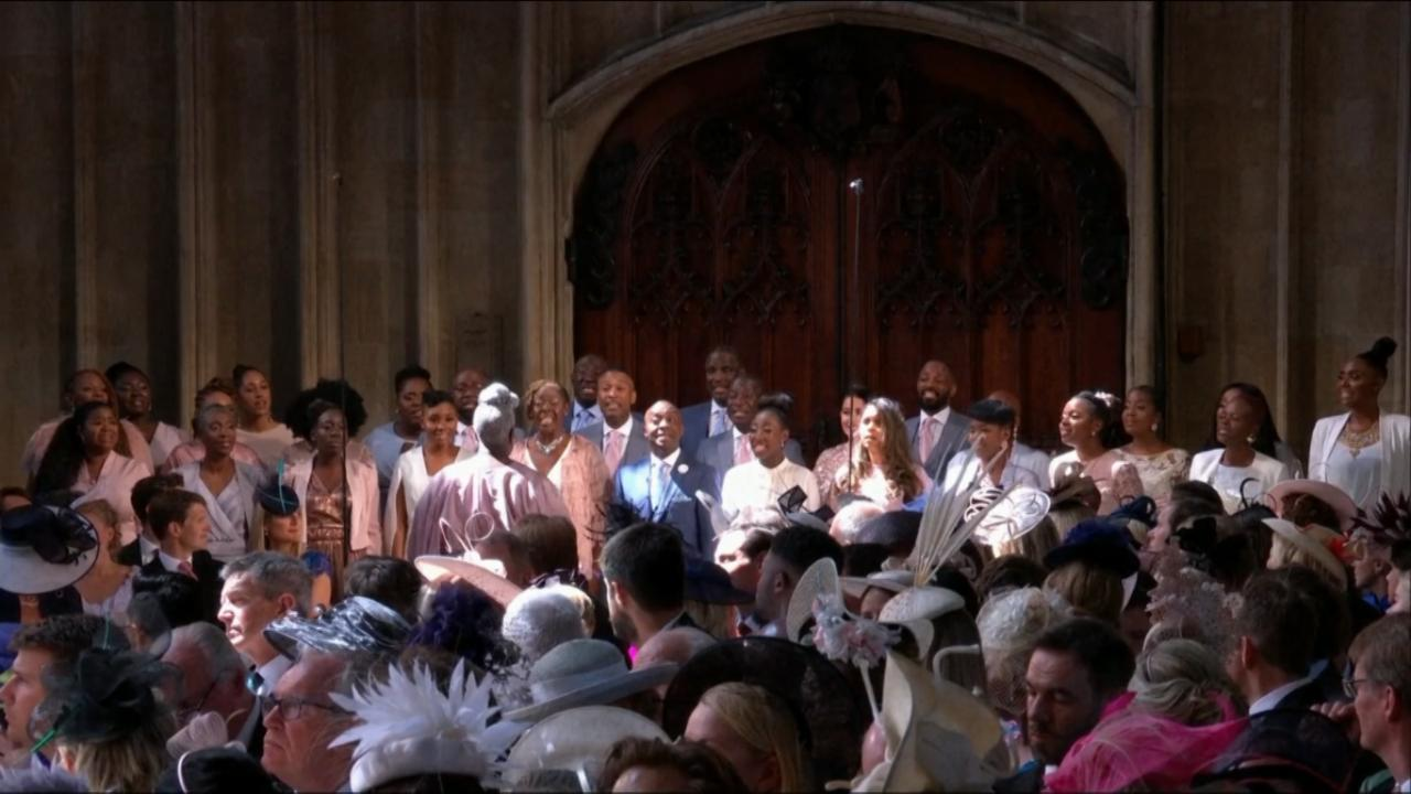 "The gospel group The Kingdom Choir performed ""Stand By Me"" at the royal wedding, before the Archbishop of Canterbury led Harry and Meghan's vows."