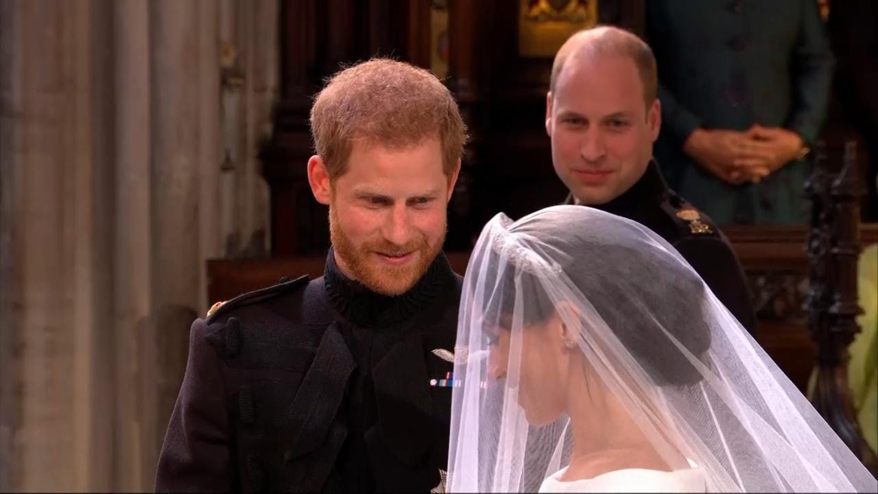 Prince Harry told his new bride how lucky he was to have her.
