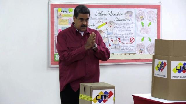Venezuela's Nicolás Maduro defends electoral process.