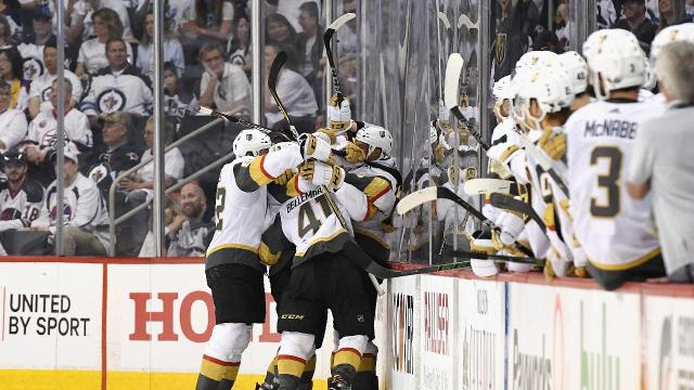 The Vegas Golden Knights, in their inaugural season, advanced to the Stanley Cup final on Sunday, defeating the Winnipeg Jets 2-1 in Game 5 of the Western Conference final.