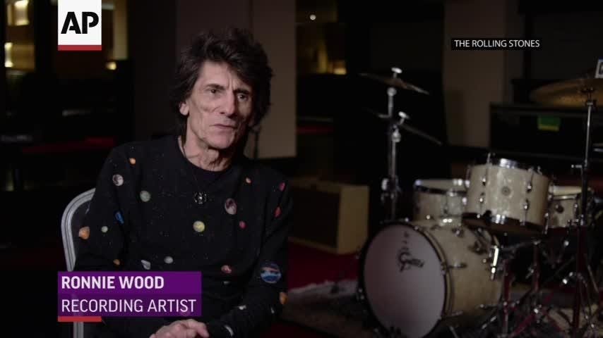 Keith Richards and Ronnie Wood look ahead to The Rolling Stones' homecoming gigs in London. (May 21)